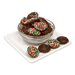 Dark Chocolate Christmas Nonpareils 20lb