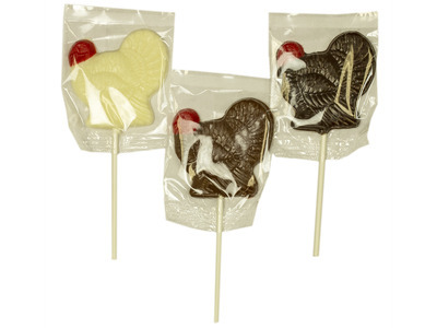 Turkey Chocolate Lollipops, Assorted 24ct